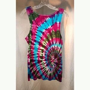 Pink/Green/Blue Swirl Tie Dye Tank at Pegasus