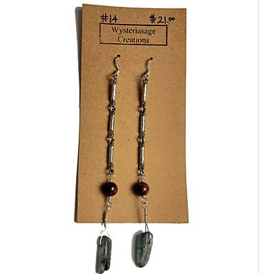 Handcrafted Earrings 3 at Wysteriasage Creations