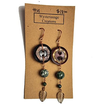 Handcrafted Earrings 4 at Wysteriasage Creations