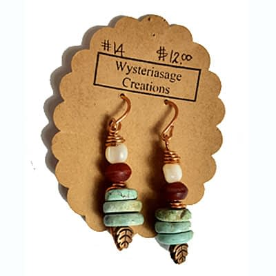 Handcrafted Earrings 6 at Wysteriasage Creations
