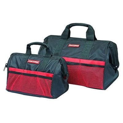 Craftsman Ballistic Nylon Tool Bag Set Black/Red 2 pc. at Ace Hardware