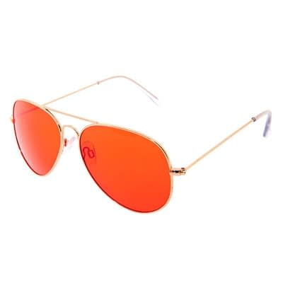 Red Tinted Aviator Sunglasses – Gold at Claire's