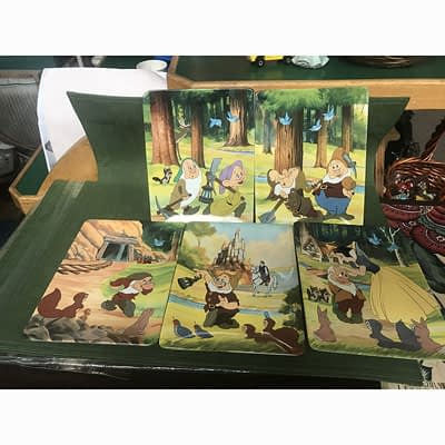 7 Dwarfs Disney Plate at 2nd Time Around Pocatello