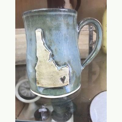 Blue Ceramic Mug at Poky Dot Beautique