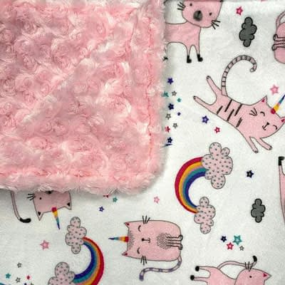 Caticorn Luxury Minky Blanket at CozyBelle