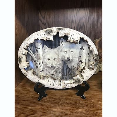 Wolf Face Decorator Plate at 2nd Time Around
