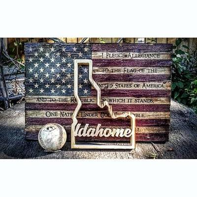 U.S. Flag and Idaho at Ideas on Wood