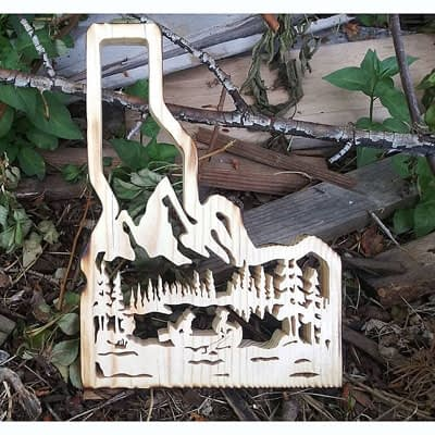 State of Idaho Mountain Scenery at Ideas on Wood