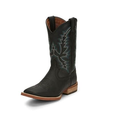 Justin Tallyman Black Boot at Vickers Western Store