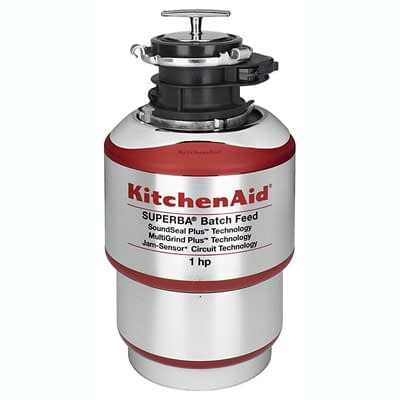KitchenAid 1-Horsepower Batch Feed Food Waste Disposer – Red at Pocatello Electric