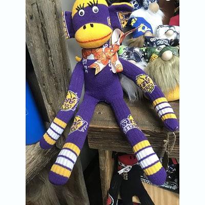 Purple Sock Monkey at Poky Dot Boutique