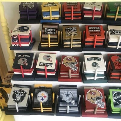 NFL Coasters at Poky Dot Boutique