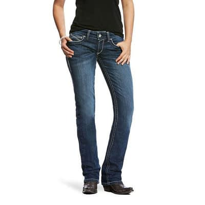 Ariat R.E.A.L. Mid Rise Stretch Ivy Stackable Straight Leg Jean at Vickers Western Store