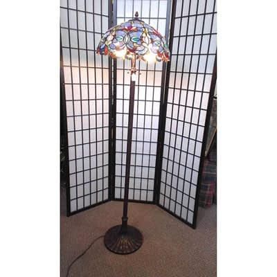 Stained Glass Floor Lamp at 2nd Time Around Pocatello