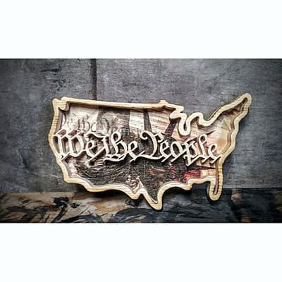 USA We The People Wood Decor at Ideas on Wood