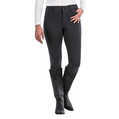 Cinch Women's Knit Moto Pant – Black  at Vickers Western Store