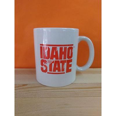 Idaho State White Mug O&B at The Orange and Black Store