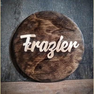 Custom Wood Round Plaque at Ideas on Wood