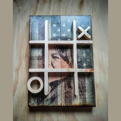 Custom Photos on Wood with Tic Tac Toe at Ideas on Wood
