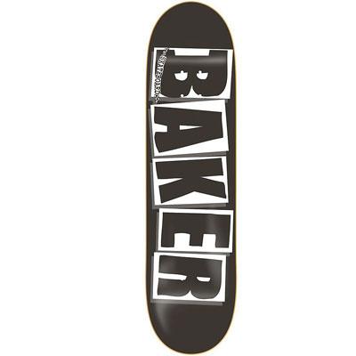 8.0″ Baker Skateboards Logo DECK- White/ Black at Deckadence