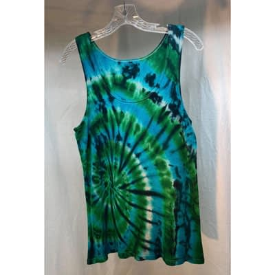 Green/Blue Swirl Tie Dye Tank at Pegasus A to Z