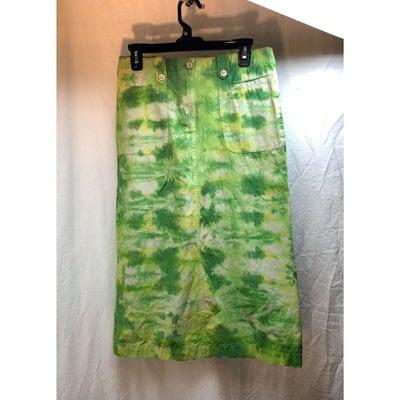 Shop Pocatello Pegasus green tie-dye long skirt