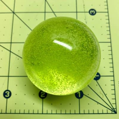 Glass Marble – Green Slime at Pegasus A to Z