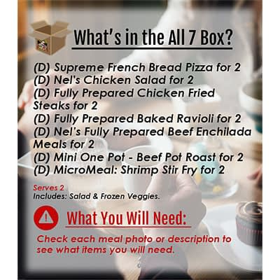 Meals in a Box for 2 All 7 at Nel's Bi-Lo Market