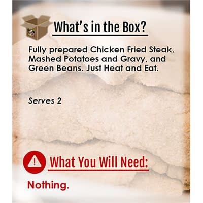 Meals in a Box for 2 Chicken Fried Steak at Nel's Bi-Lo Market