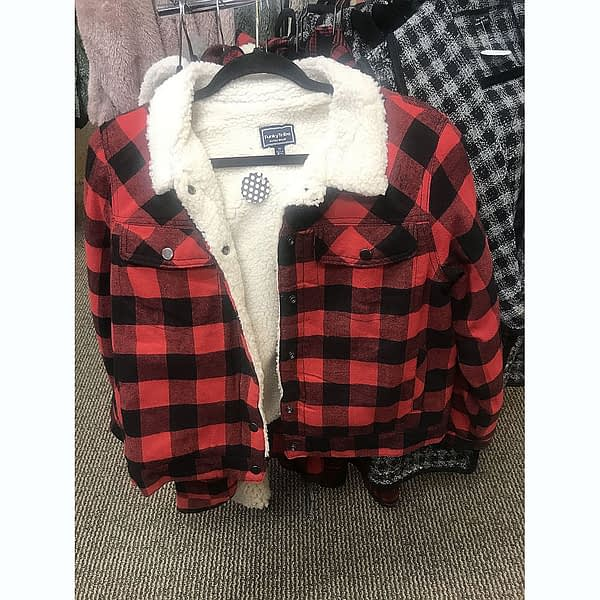Plaid Lined Jacket at Poky Dot Boutique